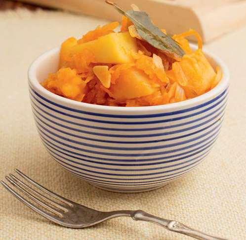 Тушеный картофель с капустой в мультиварке