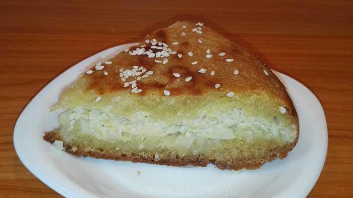 Капустный пирог в мультиварке