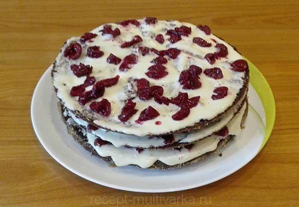 Шаг 10. Шоколадный торт с вишней в мультиварке