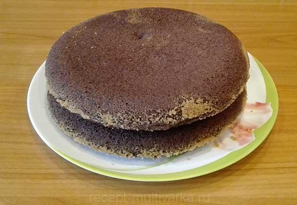 Шаг 8. Шоколадный торт с вишней в мультиварке
