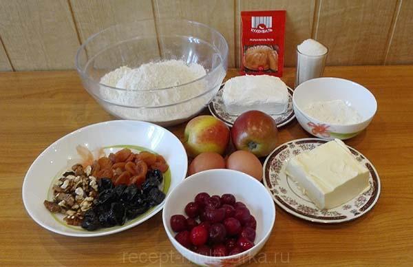 Творожный пирог в мультиварке ингредиенты